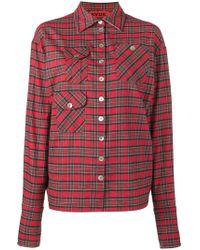 Ronald Van Der Kemp - Multi-pocket Checked Shirt - Lyst