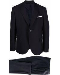 Neil Barrett Single Breasted Suit - Blue