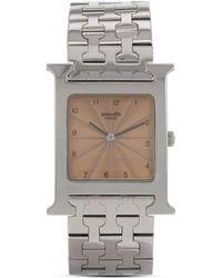 Hermès 2000 プレオウンド ホイヤー H 腕時計 - ピンク