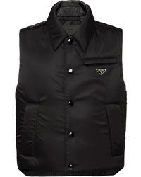 Prada Re-nylon Padded Vest - Black