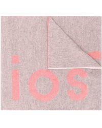 Acne Studios Sjaal Met Toronty Logo - Grijs