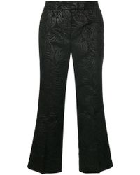 Essentiel Antwerp - Textured Cropped Trousers - Lyst