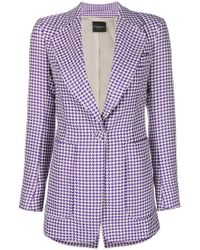 Erika Cavallini Semi Couture - Houndstooth Print Jacket - Lyst