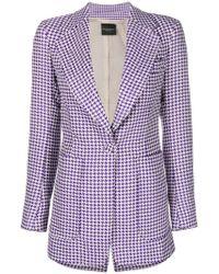 Erika Cavallini Semi Couture - Houndstooth Print Jacket - Lyst