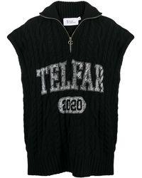 Telfar ケーブルニット セーター - ブラック