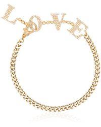 SHAY Браслет Love Из Желтого Золота - Металлик
