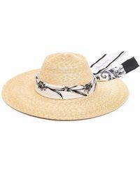 Ferragamo Соломенная Шляпа С Широкими Полями - Многоцветный