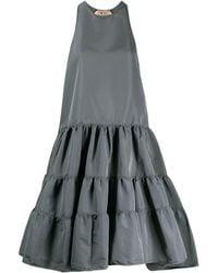 N°21 Ярусное Платье Мини - Серый
