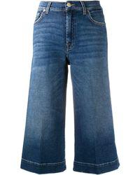 7 For All Mankind Расклешенные Шорты Culotte Luxe Vintage - Синий