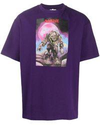 Acne Studios Camiseta con estampado de monstruo - Morado