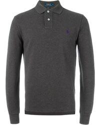 Polo Ralph Lauren ロゴ刺繍 ポロシャツ - グレー