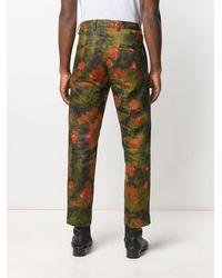 Goodfight Pantalon droit à imprimé abstrait - Vert