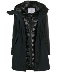 Woolrich レイヤード パーカーコート - ブラック