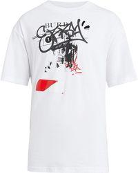 Burberry - Graffitied Ticket Print Cotton T-shirt - Lyst
