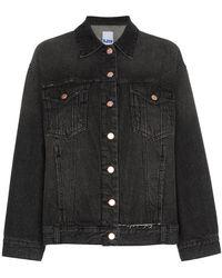 SJYP - Oversized Distressed Denim Jacket - Lyst