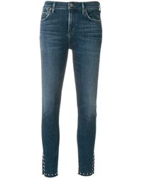 Citizens of Humanity Jeans slim con borchie - Blu