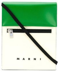 Marni Сумка-мессенджер В Двух Тонах - Зеленый