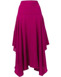 Stella McCartney Юбка Асимметричного Кроя - Пурпурный