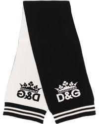 Dolce & Gabbana Écharpe en cachemire à logo - Noir