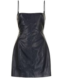 Manning Cartell Faux Leather Mini Dress - Blue