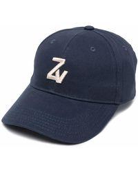 Zadig & Voltaire Gorra con logo estampado - Azul