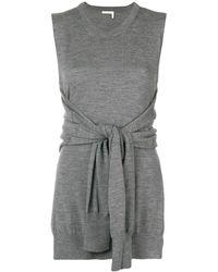 Chloé Knot-detail Sleeveless Knitted Top - Серый