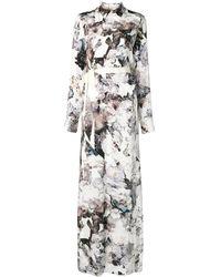 A.F.Vandevorst Vestido largo con estampado floral - Blanco
