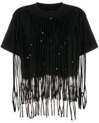 Isabel Marant Bianea ビーズディテール Tシャツ - ブラック