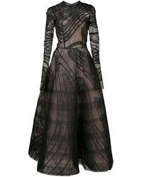 Oscar de la Renta Vestido de fiesta translúcido - Negro