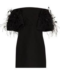 Valentino Платье Мини С Вышивкой - Черный