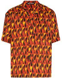 Palm Angels プリント ボウリングシャツ - ブラック