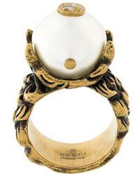 Gucci Pearl effect ring - Metallizzato