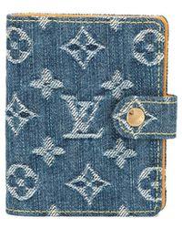 Louis Vuitton Джинсовый Чехол Для Ноутбука Pre-owned - Синий