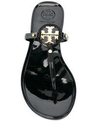 Tory Burch Mini Miller Flat Thong Sandals - Black