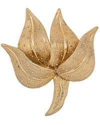 Susan Caplan 1966 Floral Brooch - Metallic