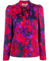 Twin Set Floral Print Blouse - Red