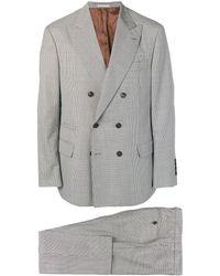 Brunello Cucinelli ダブルブレスト スーツ - グレー