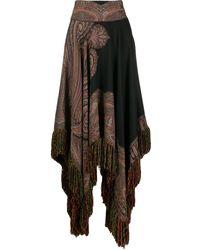 Etro ペイズリー スカート - ブラック