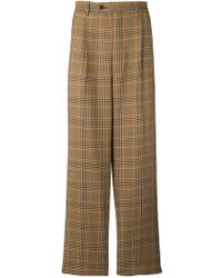 LC23 - Plaid Tailored Trousers - Lyst