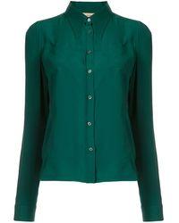 N°21 ポインテッドカラー シャツ - グリーン