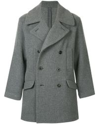 Unused - Double-breasted Coat - Lyst