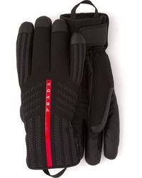 Prada Linea Rossa Padded Gloves - Black