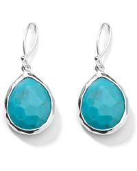 Ippolita - Small Rock Candy Teardrop Turquoise Drop Earrings - Lyst