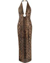 Versace Декорированное Платье С Вырезом Халтер - Черный