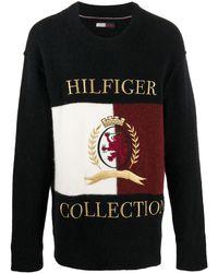 Tommy Hilfiger ロゴ スウェットシャツ - ブラック