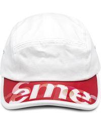 Supreme Casquette à logo - Blanc