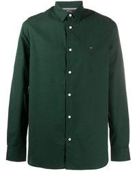 Tommy Hilfiger ボタン ポプリンシャツ - グリーン