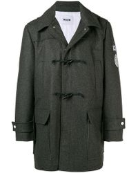 MSGM - University Patch toggle Coat - Lyst