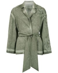 Mara Mac Belted Coat - Green