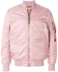 Alpha Industries Fitted Bomber Jacket - Pink